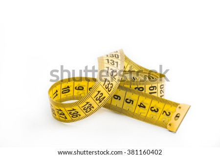 tape measure to determine the amount of yellow