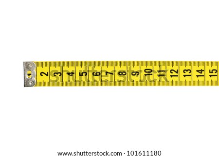 Tape Measure With CLIPPING PATH isolated on white.