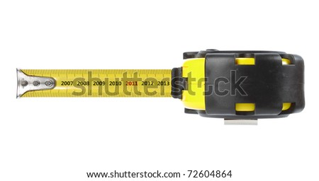tape measure, with year concept