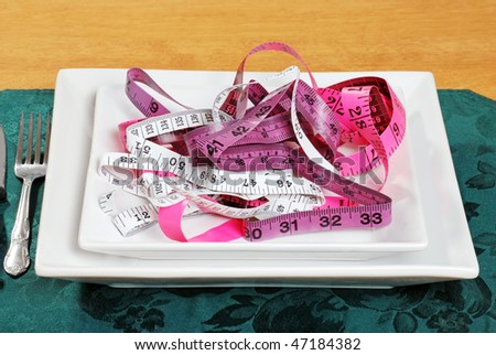 tape measures on a plate
