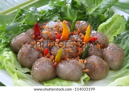 Tapioca Dumplings with Pork Stuff