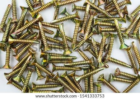 Tapping screws made of steel, metal screw, iron screw, chrome screw, screw for background