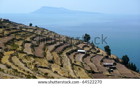 Taquile Island in Lake Titicaca of Peru