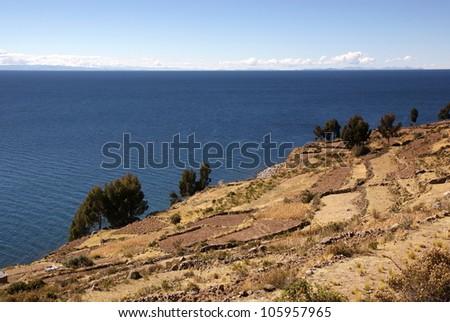 Taquile island, Titicaca lake, Peru