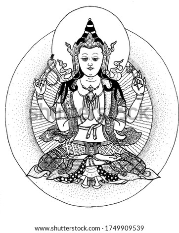 Tara in Tibetan Buddhism, is an important figure in Buddhism.She appears as a female bodhisattva in Mahayana Buddhism, and as a female Buddha in Vajrayana Buddhism.