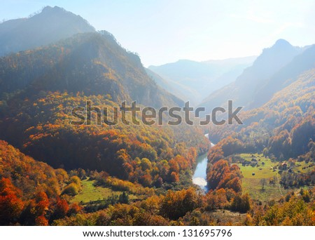 Tara River Gorge.Tara River Gorge - is the longest canyon in Montenegro and Europe