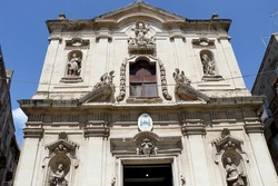 Taranto Cathedral dedicated to Saint Catald (Cattedrale di San Cataldo). Roman Catholic cathedral located in Old Town Taranto, Puglia, Italy