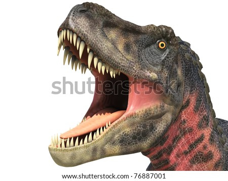 tarbosaurus big head close up