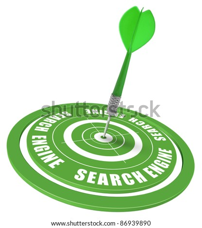 target and dart symbol of a keyword search in a search engine