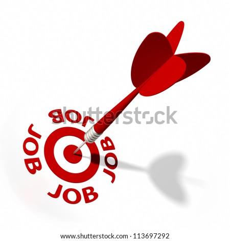 Target and dart with circular text. Part of a series.