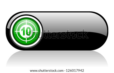 target black and green web icon on white background