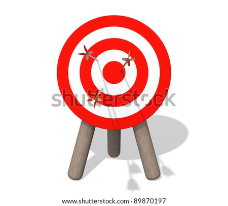 Target board with arrows - stock photo