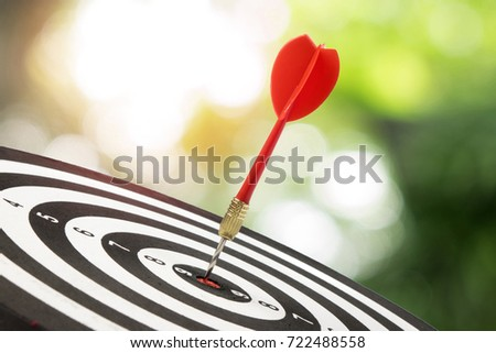 target dart and arrow with...