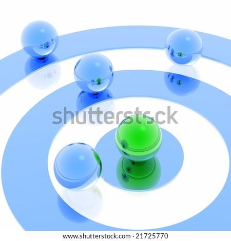 Target (green & blue set)