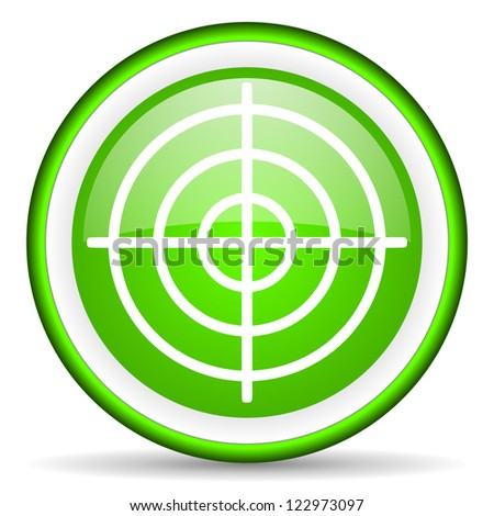 target green glossy icon on white background