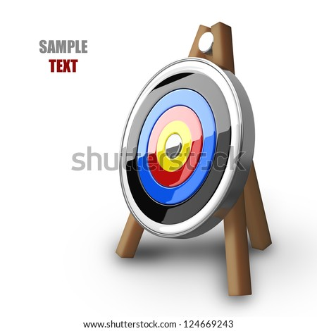 Target isolated on white background high resolution 3d illustration