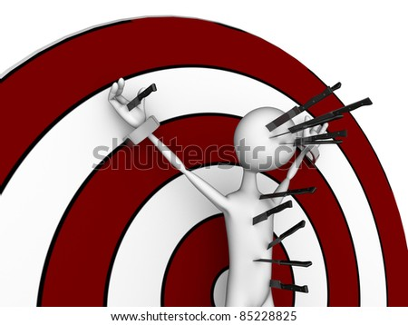 target man isolated on white background