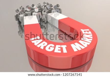 Target Market Customers Demographic Group Magnet People 3d Illustration