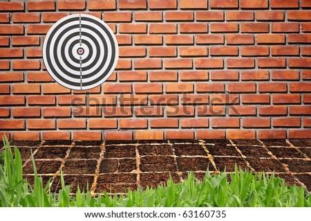 Target on brickwall #63160735