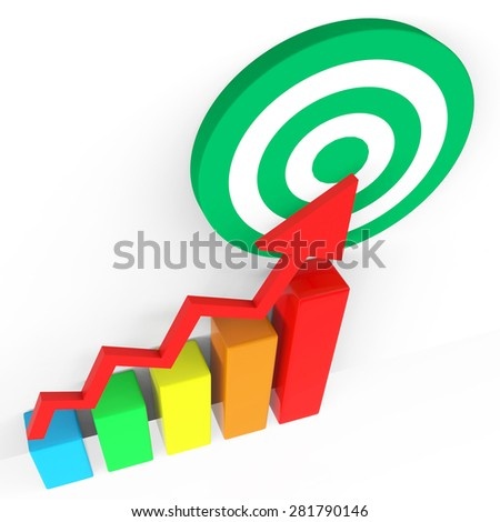Target Report Profit Rise Or Sale Increase Shows Performance Equity Growth Or Positive Profitability Success