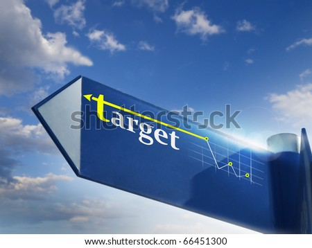 target road sing for business marketing and financial concepts