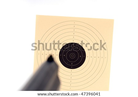 Target shooting with a weapon