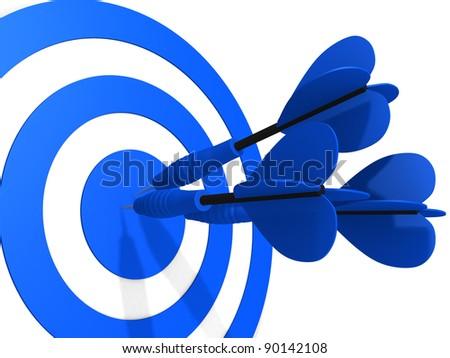 Target. Success concept. This is 3d render illustration