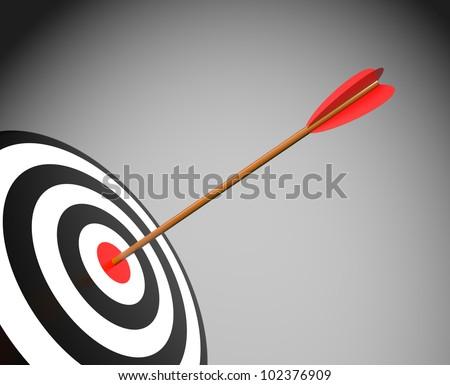 Target with arrow - stock photo