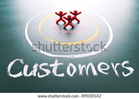 Target your customers. people in the center of circle.