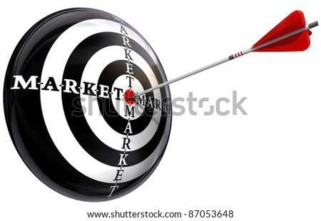 targeted marketing conceptual image isolated on white background