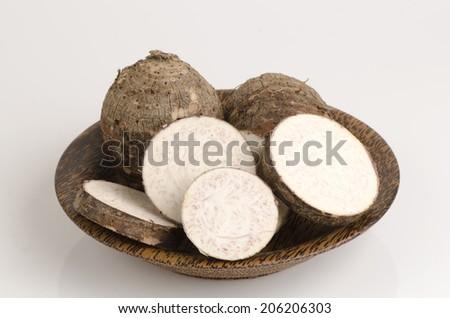 Taro (Colocasia esculenta var. Antiquorum). #206206303