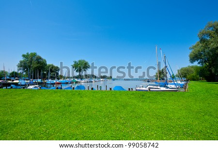 Tarpaulin Covers for Boats, the Lake Chiemsee in Bavaria