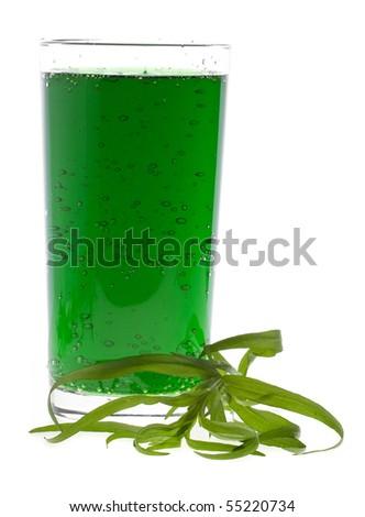 Tarragon Drink Isolated On White Estragon Stock Photo 55220734 ...