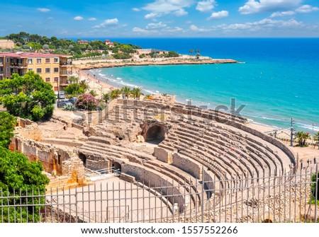 Tarragona Roman Amphitheater in Catalonia, Spain Zdjęcia stock ©