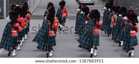 Tartan Marching Band Exit Parade Ground #1387883951