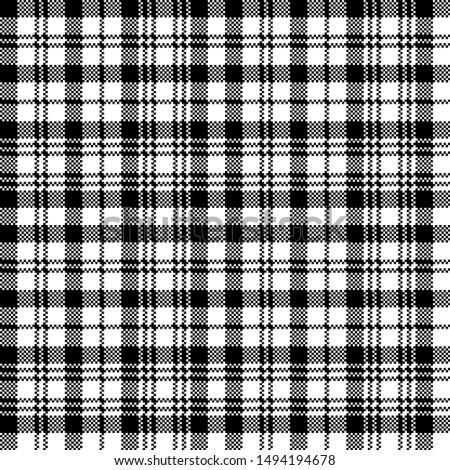 Tartan plaid pattern. Print fabric texture seamless. Check background.