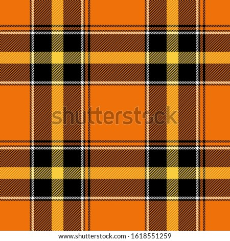 Tartan seamless plaid pattern illustration in black, blue, orange and white combination for textile design for textile design for textile design for textile design. Trendy tiling illustration