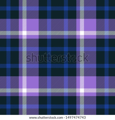 Tartan seamless plaid pattern illustration in blue, violet, green and white combination for textile design for textile design  Trendy tiling illustration for wrapping papers