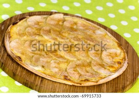 Tarte Flambe ,Crepe, with Apple Filling