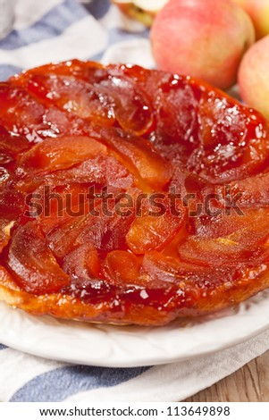 Tarte Tatin with apples - stock photo