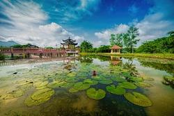 Tasik Melati or Taman Melati - one of the famous lake park in Perlis Malaysia 30 minute by road from Kangar.