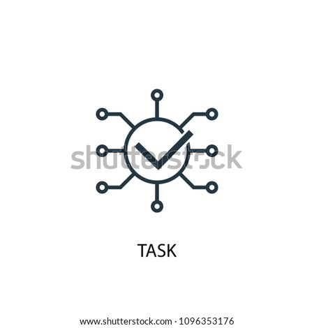 Task icon. Simple element illustration. Task symbol design from Project management collection. Can be used for web and mobile.