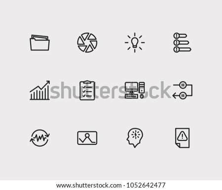 Task icons set. Periodic breaks and task icons with urgent task, manage stress and group tasks. Set of elements including device for web app logo UI design.