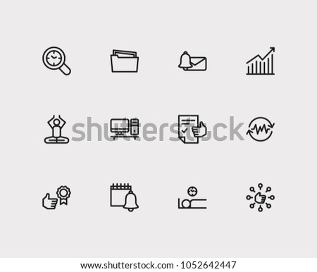 Task icons set. Reward yourself and task icons with audit time, efficiency and group tasks. Set of elements including gesture for web app logo UI design.