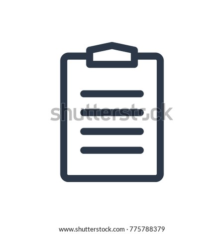 Task list icon. Isolated clipboard and task list icon line style. Premium quality  clipboard symbol drawing task list concept for your logo web mobile app UI design.