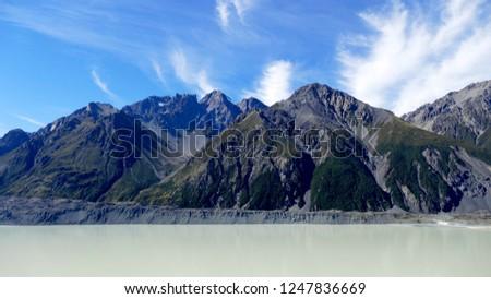 Tasman glacier, and lake #1247836669