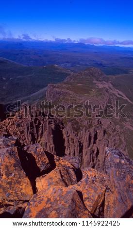 Tasmania: On the peak of the Cradle Mountain National Park