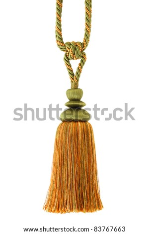 Tassel for curtain, isolated on white background