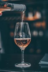 Tasteing Rose Wine Glass - Close UP