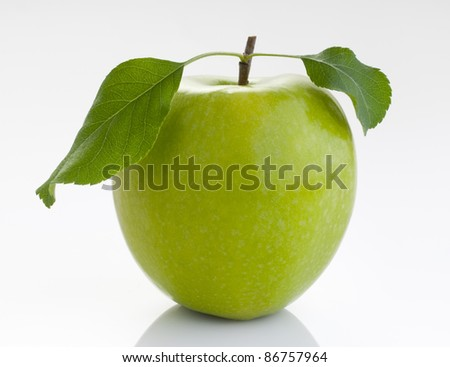 tasty and fresh natural green apple